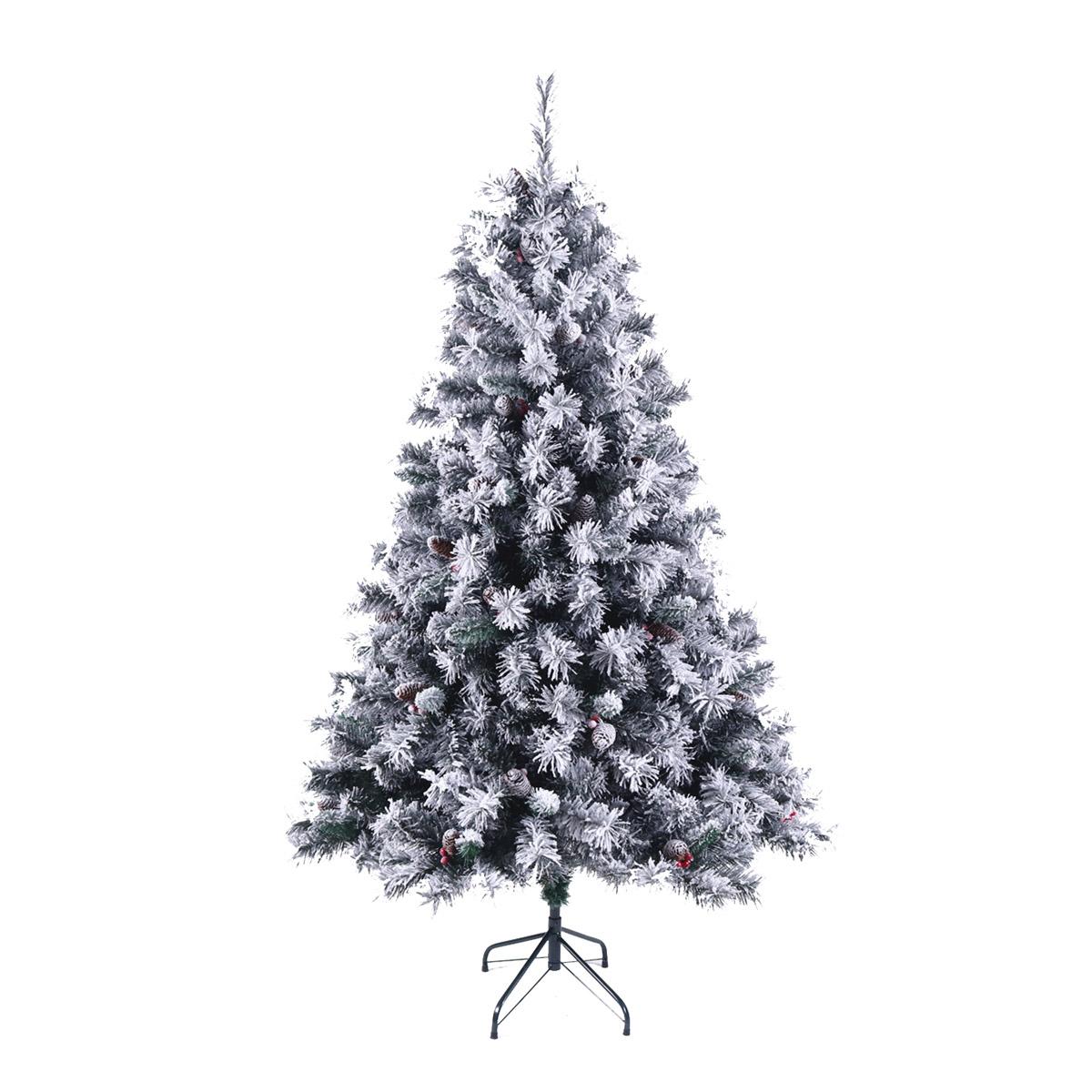 92029 SVITA Weihnachtsbaum künstlich mit Schnee und Tannenzapfen 180 cm