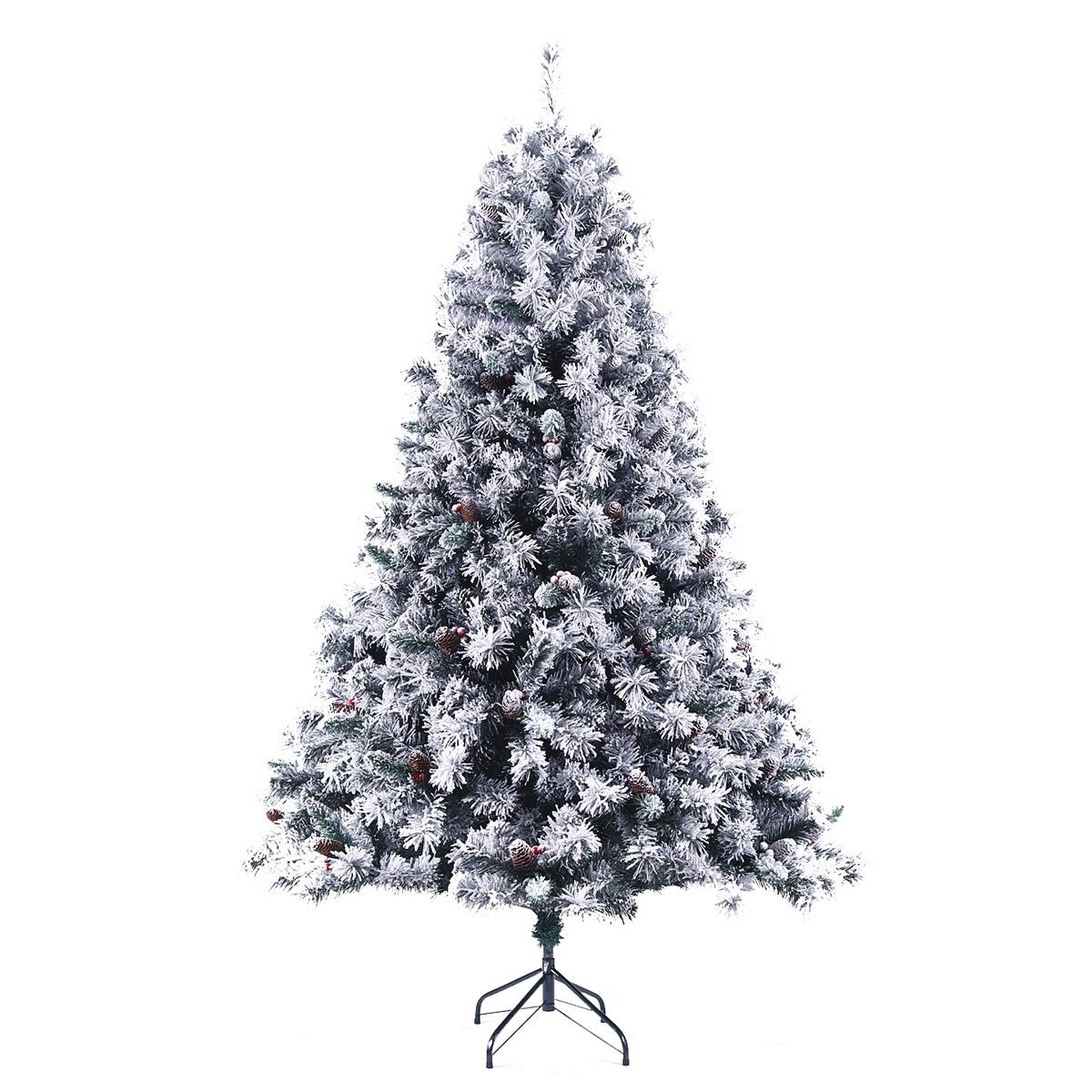 92030 SVITA Weihnachtsbaum künstlich mit Schnee und Tannenzapfen 210 cm